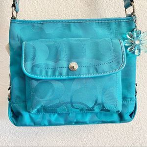 Coach Signature Kyra Daisy Crossbody Bag Turquoise